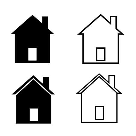 home icon on white background. house sign. small house symbol. flat style.