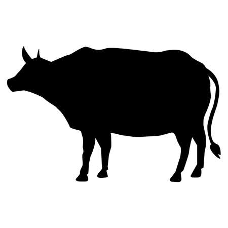 cow icon on white background. cow silhouette. cow symbol. flat style.