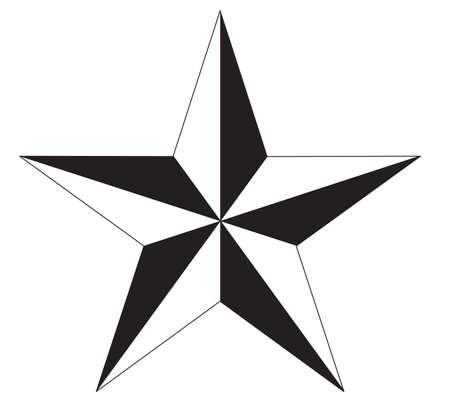 star icon on white background. black and white star sign. flat style. Ilustração