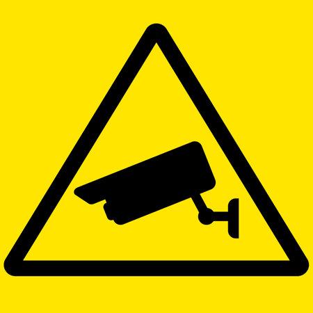 CCTV camera symbol sign. video surveillance symbol. CCTV Camera logo. flat style. Ilustração