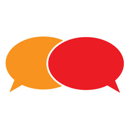 speech bubble icon on white background. dialogue and discussion sign. teamwork symbol. puzzle chat  . flat style.