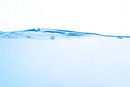 Water surface white background