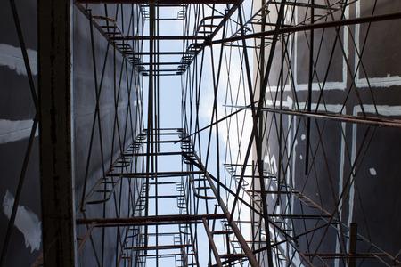 andamio: Andamios en un sitio de construcci�n