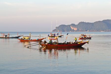 Fisherman at chomphon Province  Thailand  photo