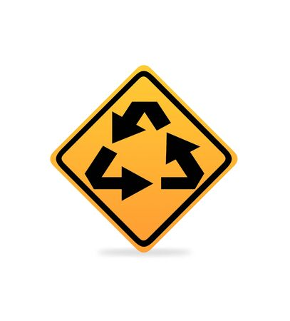 Recycling Symbol On White background Stock Photo - 18592354