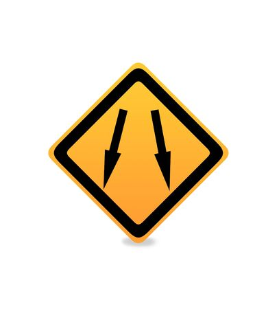 informational: An informational traffic sign over white background Stock Photo