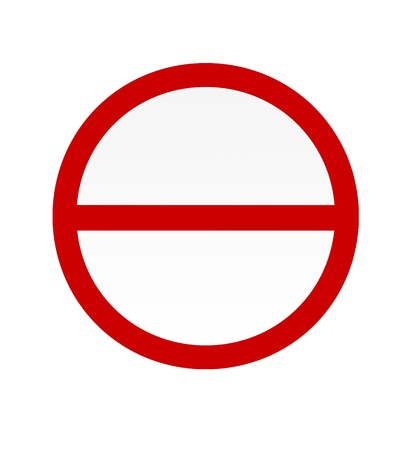 no sign: No entry sign