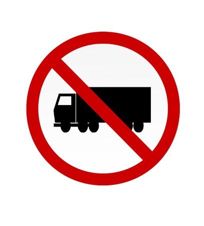 symbolization: No Truck Symbol sign