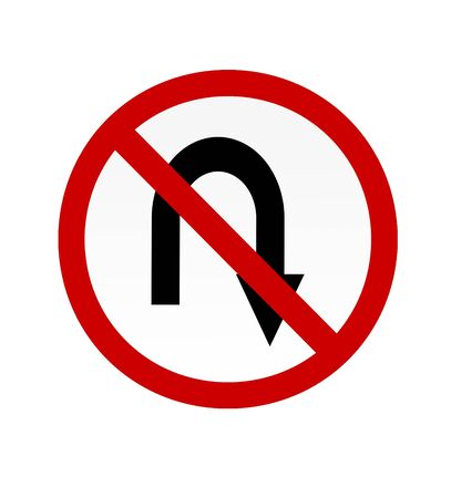 No u turn  sign photo