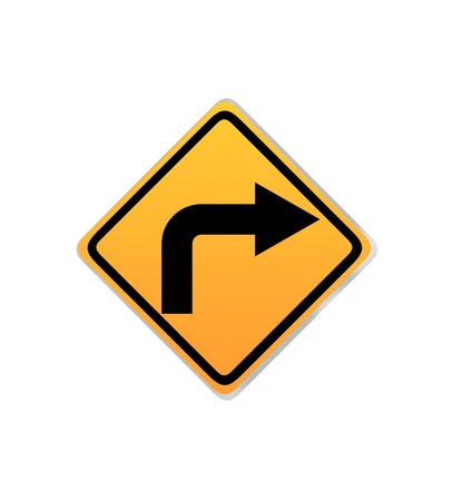 mict: Turn right sign
