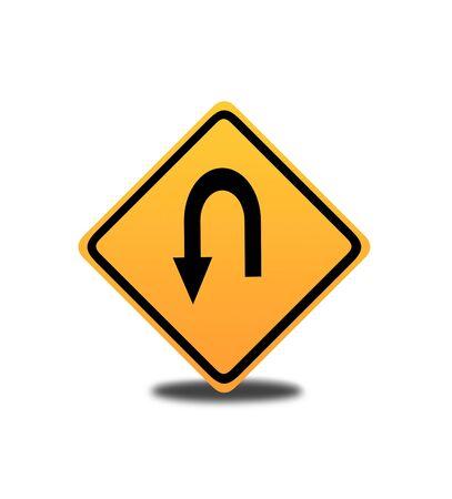 u turn sign: U turn Sign Stock Photo
