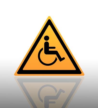 simbol: Yellow Warning Sign  Stock Photo