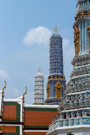 Pagodas of Wat phra keaw photo