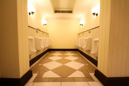 white porcelain urinals in public toilets Stock Photo - 18978332