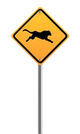 acinonyx: Cheetah,Acinonyx jubatus Sign Symbol Stock Photo