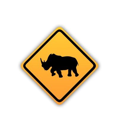 Rhinoceros sign Stock Photo - 20040307