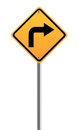 right arrow: Right Arrow Road Sign Symbol Stock Photo
