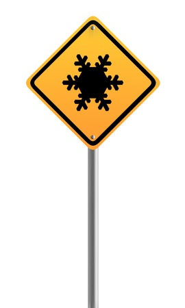 Traffic sign - Snow ahead
