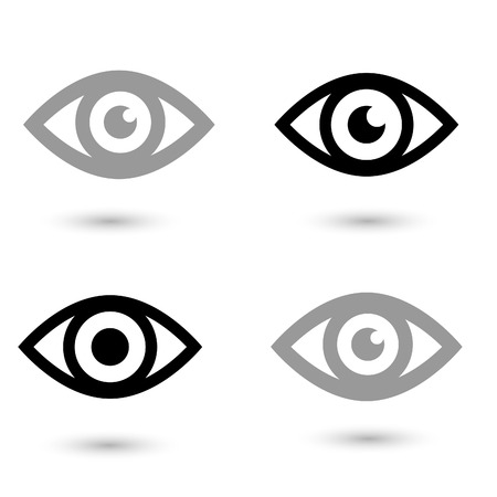 globo ocular: Icono del ojo