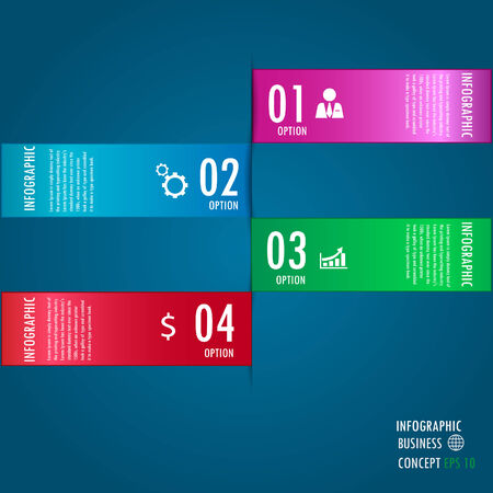 infograohics design element label or banner can be used for workflow layout   numbered banners   step up option   graphic or website layout