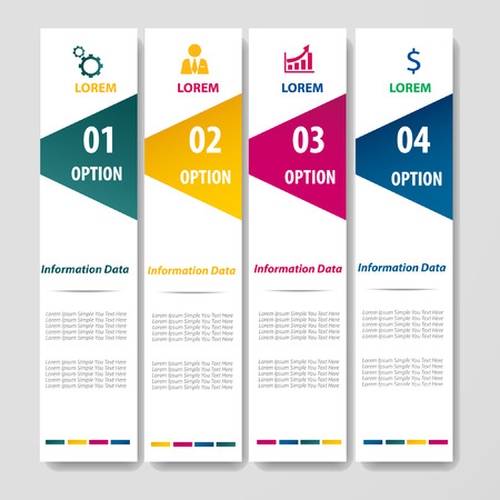 infograohics design element label or banner can be used for workflow layout   numbered banners   Vector