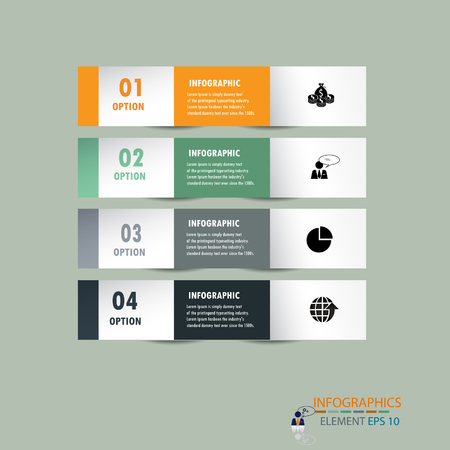 infograohics design element label or banner can be used for workflow layout   numbered banners   step up option   graphic or website layout vector Vector