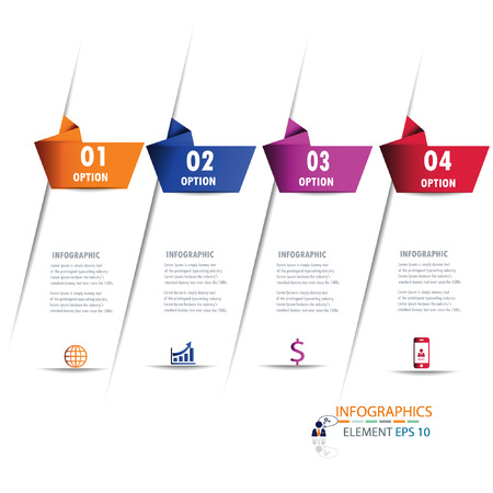 Modern design infographic vector
