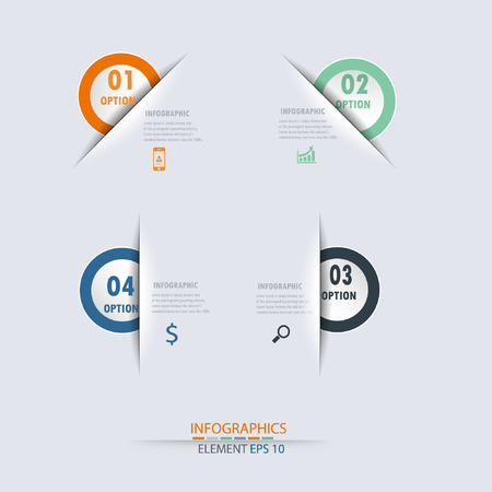 phonographic: Modern business options charts vector