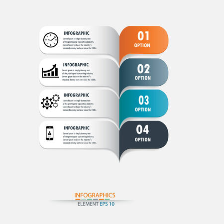can be used for workflow layout   numbered banners   step up option   graphic or website layout vector  Vector