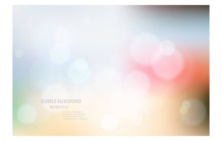 vector illustration of soft colored abstract blurred light background layout design , can be use for background concept or festival background.