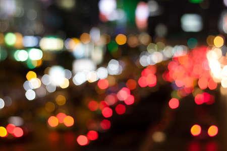 blurred bokeh light soft car road traffic background.