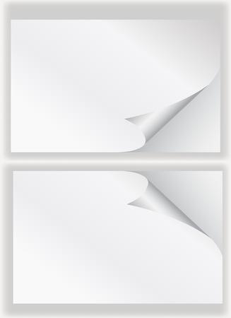 paper curl: papel rinc�n rizos background.vector blanco plantilla de dise�o ilustrador.