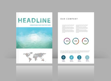 brochure cover design: Brochure cover design vector template.cover with pattern of geometric shapes. Illustration