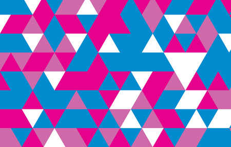 colorful triangle abstract background.pink blue geometric pattern vector illustrator design template. Çizim