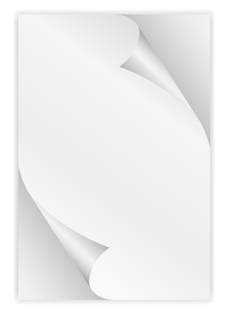 paper curl: paper curl corner white background.vector illustrator design template. Illustration