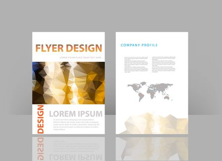 brochure design template background. Vector