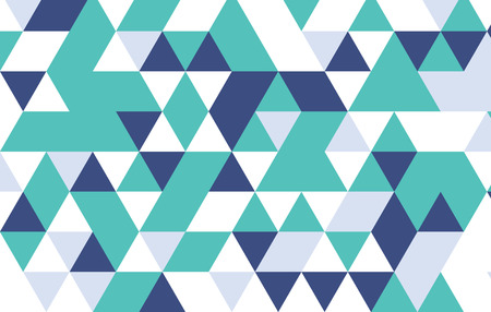 trendy tissue: green and blue geometric pattern