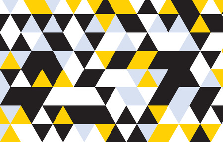 black and white: triangle design pattern background. Illustration