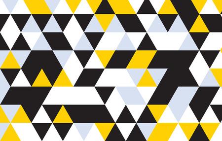 black   white: triangle design pattern background. Illustration