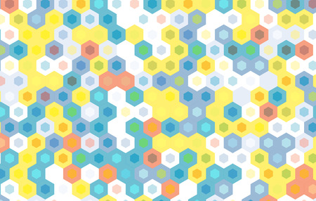 gauze: yellow and blue green hexagon abstract background. Illustration