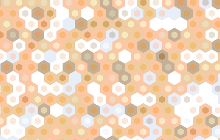 gauze: brown hexagon abstract background. Illustration