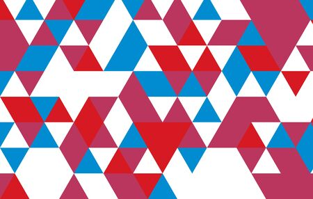 red blue vector triangle pattern design template background. Vector