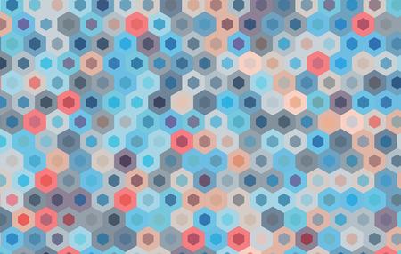 motif geometriques: hexagone bleu et color� background.Vector conception de motif g�om�trique.