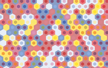 gauze: colorful hexagon background.vector geometric pattern design. Illustration