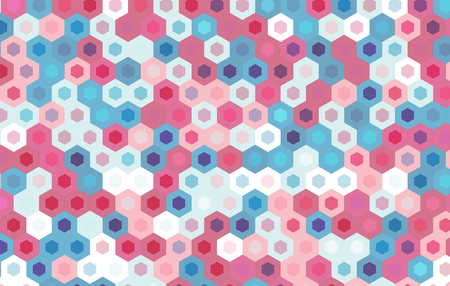 netting: colorful hexagon background.vector geometric pattern design. Illustration