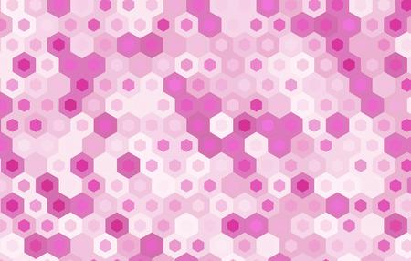 gauze: pink hexagon vector background design.geometric background.