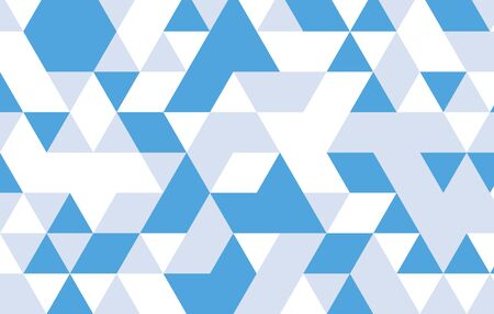 blue triangle pattern background.