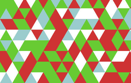 green and red: green red triangle pattern background. Illustration
