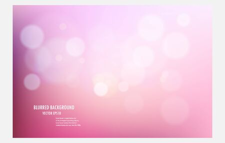 pink abstract blurred tone light background. vector illustator valentine design template.