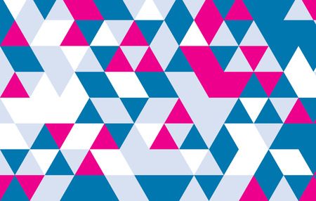 vector blue and pink geometric pattern design background.